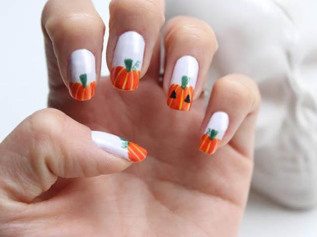 07-halloween-nail-art-pumpkins