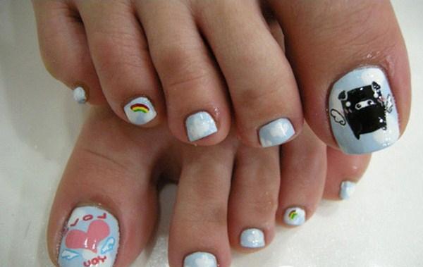 Monokorobo-Cartoon-in-Cute-Toe-Nail-Design-with-Love-Combination-Copy