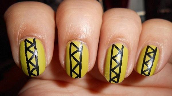Simple-Yellow-Tribal-Nail-Art-Copy