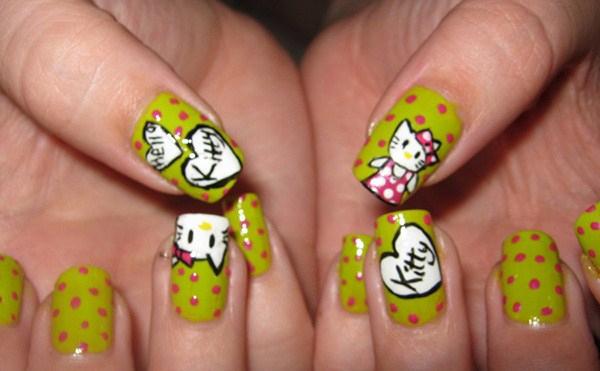 Green-Hello-Kitty-Nail-Designs-Copy