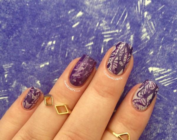 monochrome-purple-freehand-skittle-nails-saran-wrap-urban-outfitters-camo-nail-art-3-Copy