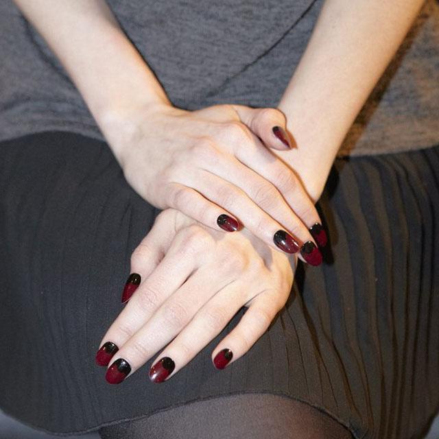 Femme-fatale-half-moon-manicure-at-Charlotte-Ronson