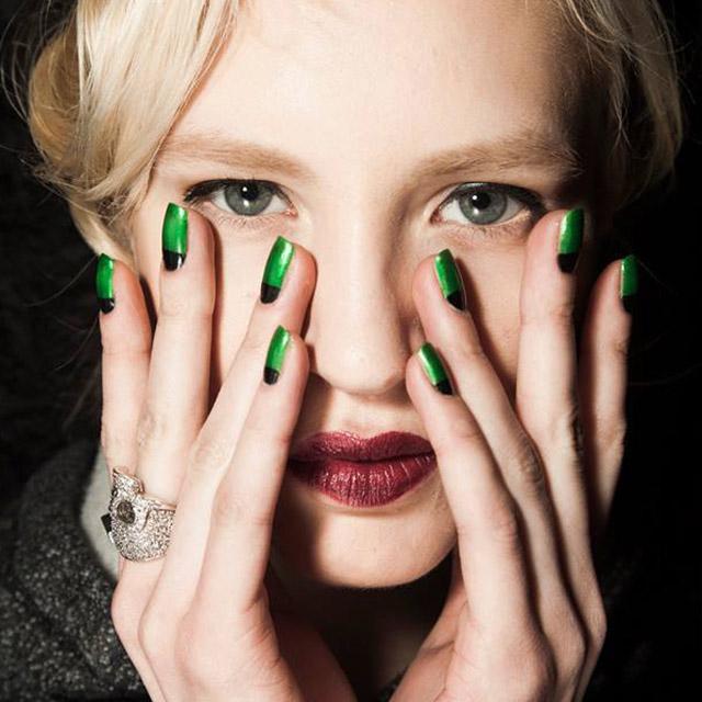 Green-and-Black-half-moon-nails-by-Zoya-at-Zang-Toi
