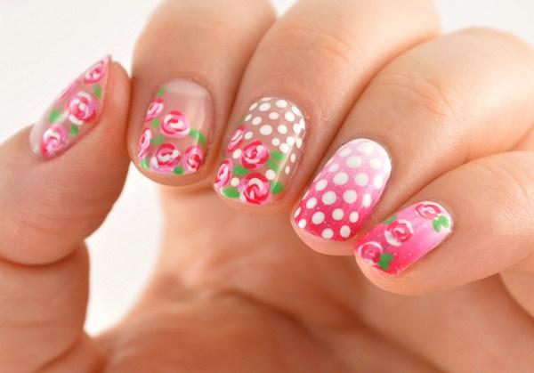 roses-gradient-dot-nail-art-2 (Copy)