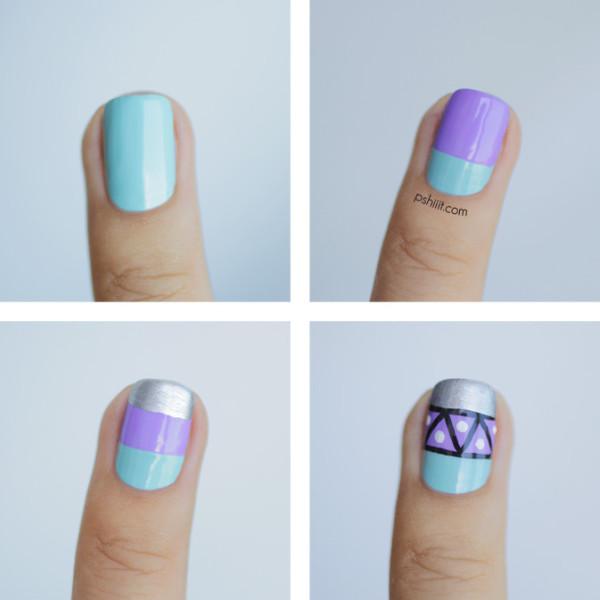 nail-art-graphique-mint-et-lavande6