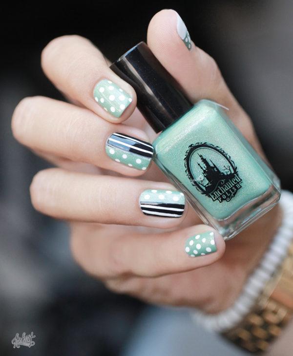 nail-art-mint-blanc-et-noir1