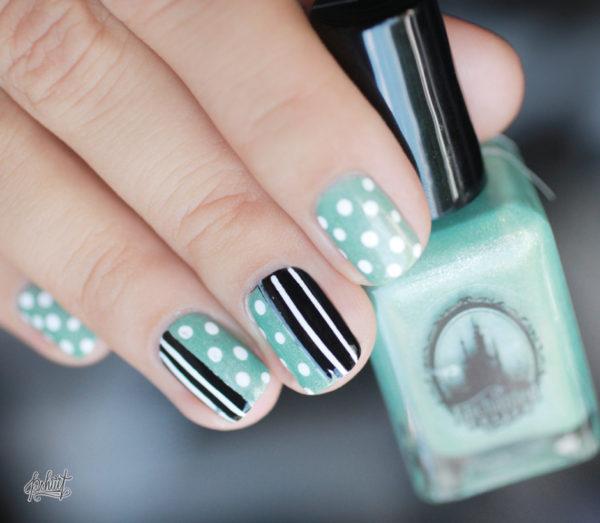 nail-art-mint-blanc-et-noir2