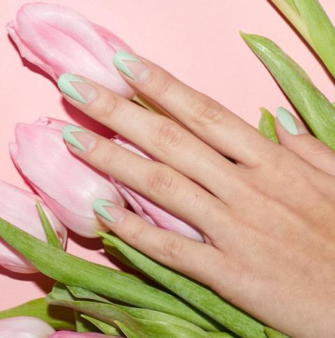 pastel-green-matte-negative-space-manicure