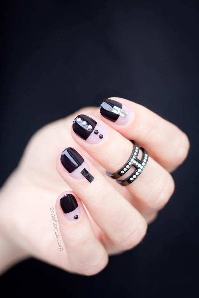 black-nail-art