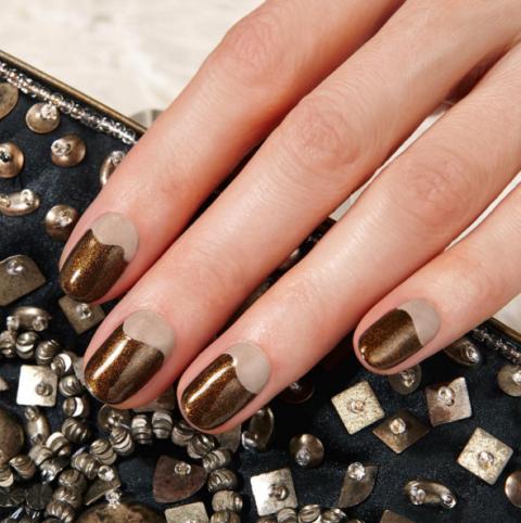 bronze-nail-art