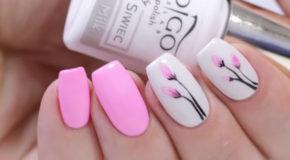 Nail Gel Họa Tiết Hoa Đơn Giản Với Indigo Nails