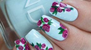 Nghệ Thuật Vẽ Nail Hoa Hồng Cổ Điển