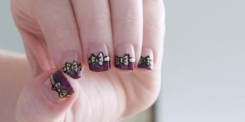 Tự vẽ nail nơ xinh xắn