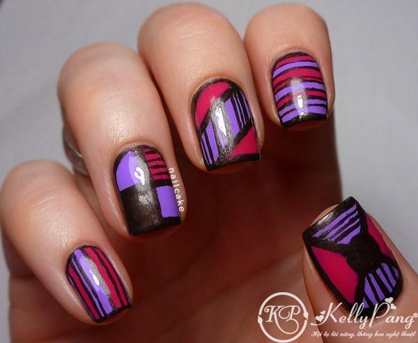 Illamasqua-Jo'Mina-pink-grey-geometric-stripe-nail-art-4 (Copy)