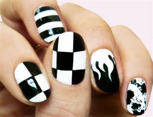 black-white-nail-design-ideas