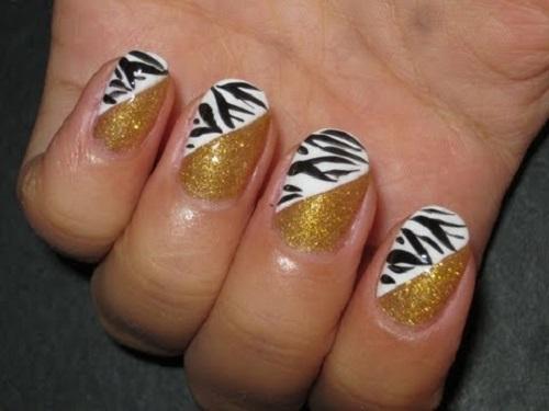 golden-zebra-nails