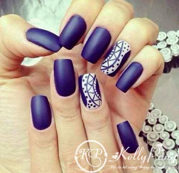 Móng Tay Matte Xuân Hè 2014 purple-matte-nails (Copy) – KellyPang Blog