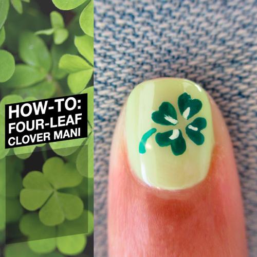 Cách vẽ móng hình cỏ bốn lá | KellyPang Blog